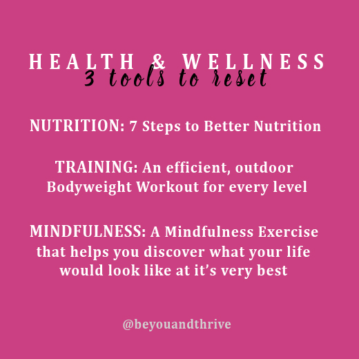 mindful, nutrition, training