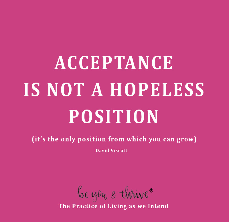 acceptance, hope, growth